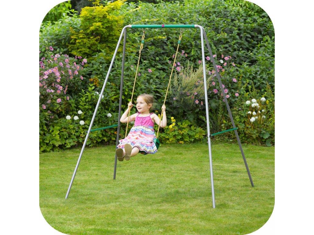 Plum Jednosedlová dětská zahradní  houpačka s rámem nejlevněji levně  levná skladem