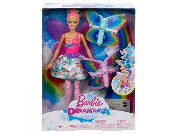 Mattel Barbie Létající víla s křídly Blondýnka