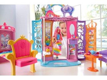 MATTEL Barbie Duhový zámek +panenka FRB15