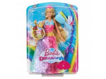 Mattel Barbie MAGICKÉ VLASY PRINCEZNA BĚLOŠKA