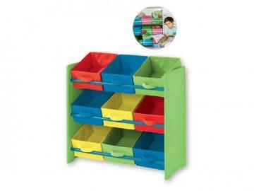 LIVARNOLIVING® Dětský regál (modrá zelená)