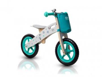 Odrážedlo KINDERKRAFT CykloRunner Stars s doplňky zvonek+taška