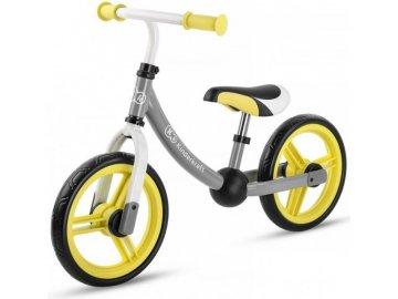 KinderKraft Odrážedlo 2way s příslušenstvím šedá žlutá