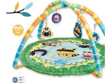 Kuniboo Dětská hrací deka s hrazdou Lesní zvířátka