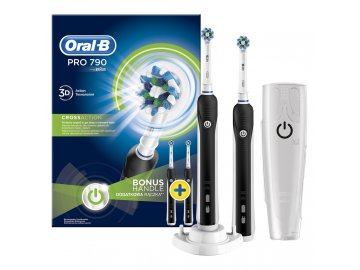 Oral B Pro 790 Cross Action Black Duo