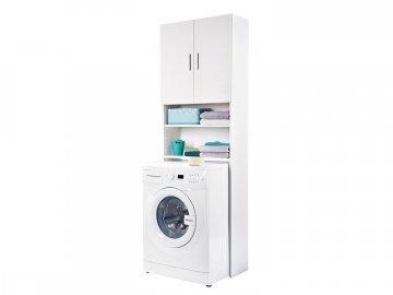 Meblomaster Skříňka vysoká nad WC či pračku MR-955, bílá