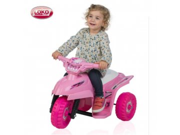 Loko Toys elektrická tříkolka Tribike Stars růžová 1