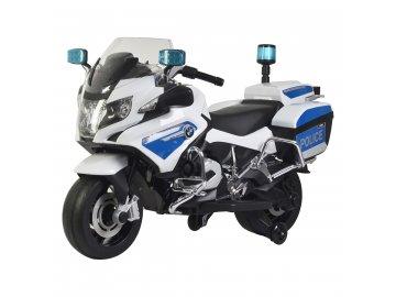 Buddy Toys BEC 6021 El. Policejní motorka BMW R1200 RT P bílá