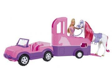 Simba Auto s přívěsem a koněm Steffi Love