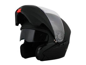 Vyklápěcí přilba helma na motorku Proxium Diabolo černá matná nejlevnější integrální