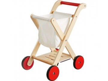 KidLand Nákupní vozík dřevěný Tacohit