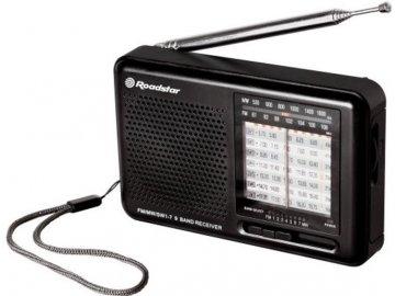 Přenosný retro radiopřijímač Roadstar TRA 2989 černý