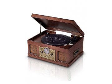 Gramofon s radiem, CD a kazetovým přehrávačem Platinium Music Center 5v1 E 6289