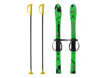 Dětské plastové lyže ACRA Baby Ski zelené