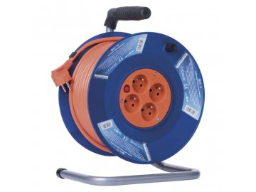 EMOS PVC prodlužovací kabel na bubnu 4 zásuvky 50m P19450