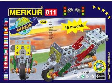 Stavebnice Merkur 011 Motocykl 10 modelů 230ks