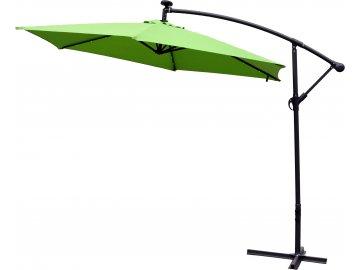 Slunečník Exclusive boční průměr 300 cm zelená
