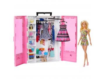 Mattel Barbie Skříň na šaty s příslušenstvím GBK12