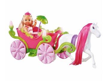 Simba Panenka Evička Evi Love princezna 12 cm set panenky s kočárem a koněm