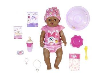 BABY born Panenka s kouzelným dudlíkem černoška 43 cm