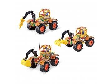 MADE Malý mechanik Traktory 3 v 1