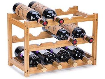 Liv&bo Stojan na víno 12 lahví Bamboo Natur 2