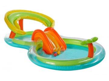 KidLand 1313384 Dětský bazének se skluzavkou