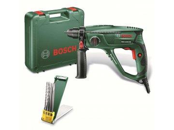 Vrtací kladivo Bosch PBH 2100 RE + 2 sekáče a 2 vrtáky  + PLASTOVÝ KUFŘÍK