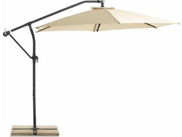 Slunečník Exclusive boční průměr 300 cm béžový