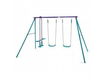 Plum Dětská houpačka 2 sedátka + 1 houpací kluzák Jupiter swing set