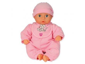 Bayer Panenka First Words Baby 38cm 24 funkcí  - růžová
