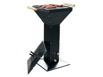 Sloupový gril ABC Pedestal stojanový černý elegant design