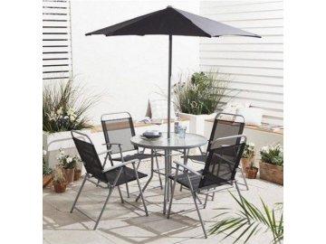 zahradní sestava Hawaii stůl + 4 židle + slunečník levně nejlevnější skladem