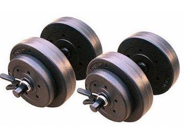Gold´s Gym Činky nakládací jednoruční set 2x9,4 kg 1