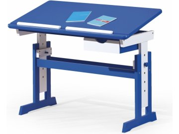 rostoucí nastavitelný dětský psací stůl Paco pro chlapce modrý bílý