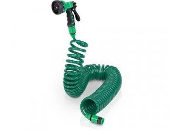Spirálová zahradní hadice Powerplus zelená levná nejlevnější
