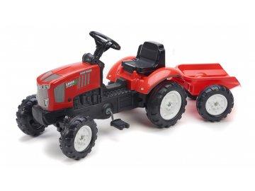 Dětský šlapací traktor s vlekem Falk Farm Power 2068AJ