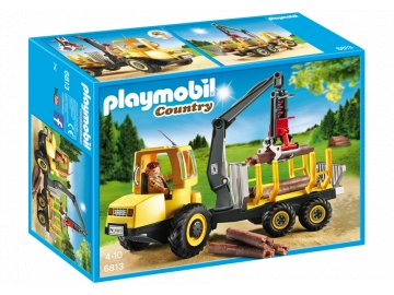 Playmobil 6813 Přeprava dřeva a jeřáb