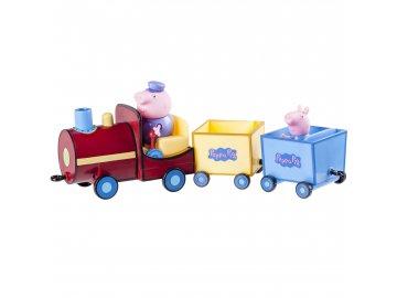 TM Toys Prasátko Peppa Vláček 2 vagony 3 figurky