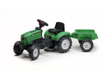 Dětský šlapací traktor s vlekem Falk Farm Power 2069AJ