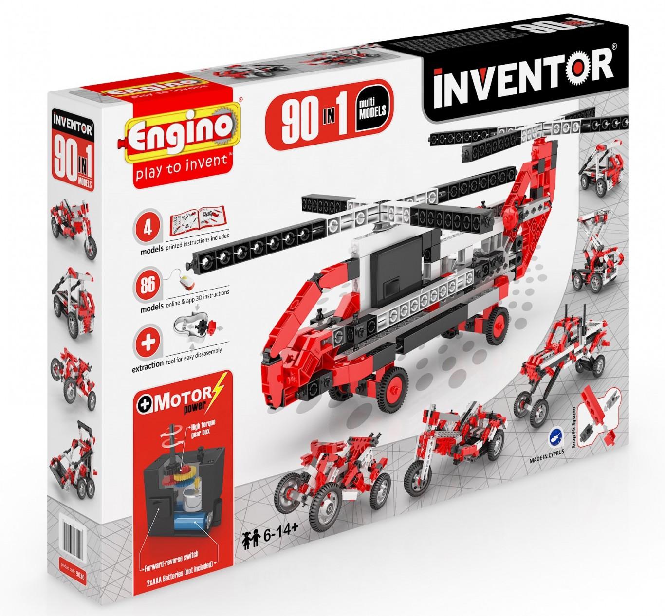 Stavebnice Engino 9030 Inventor 90 Modelů motorizovaný set