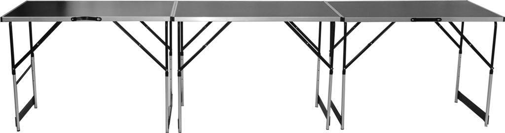 ABC 3 dílná sada hliníkových skládacích prodejní pultů stolků stolů