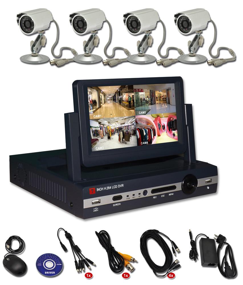 Ecolite Zabezpěčovací kamerový systém s displejem DVR-7304S