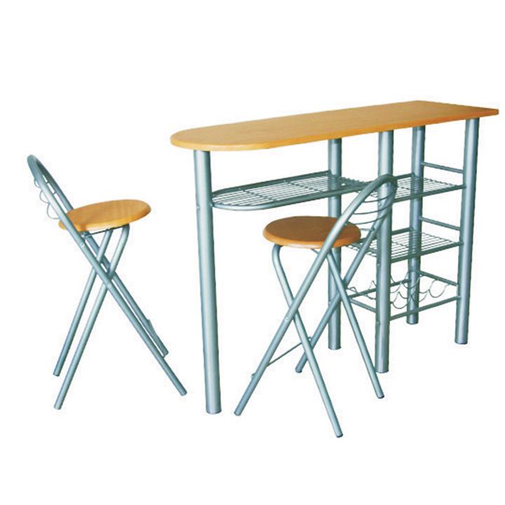 Levně TEMPO KONDELA Komplet barový stůl + 2 židle, buk, BOXER
