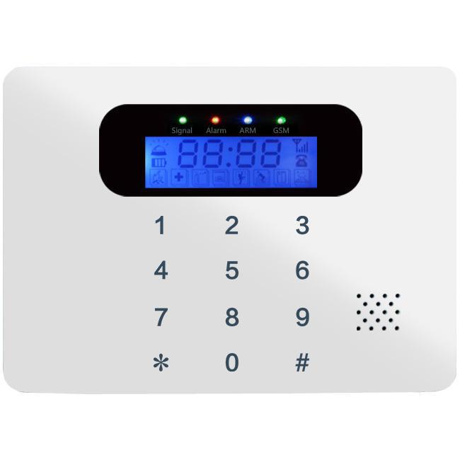 Ecolite Bezdrátový GSM alarm,2x Ecolite HF-GSM02 - vrácený kus, lehce poškozená krabička a poškrábaný displej. Jinak 100% funkční