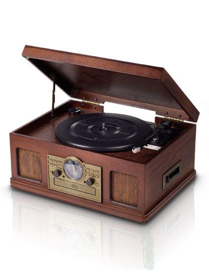 Platinum Gramofon s radiem, CD a kazetovým přehrávačem Platinium Music Center 5v1 E-6289
