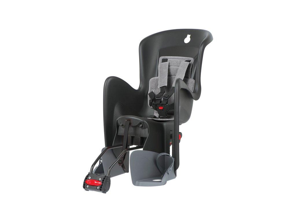 Dětská sedačka na kolo Polisport Bilby RS, černo-šedá