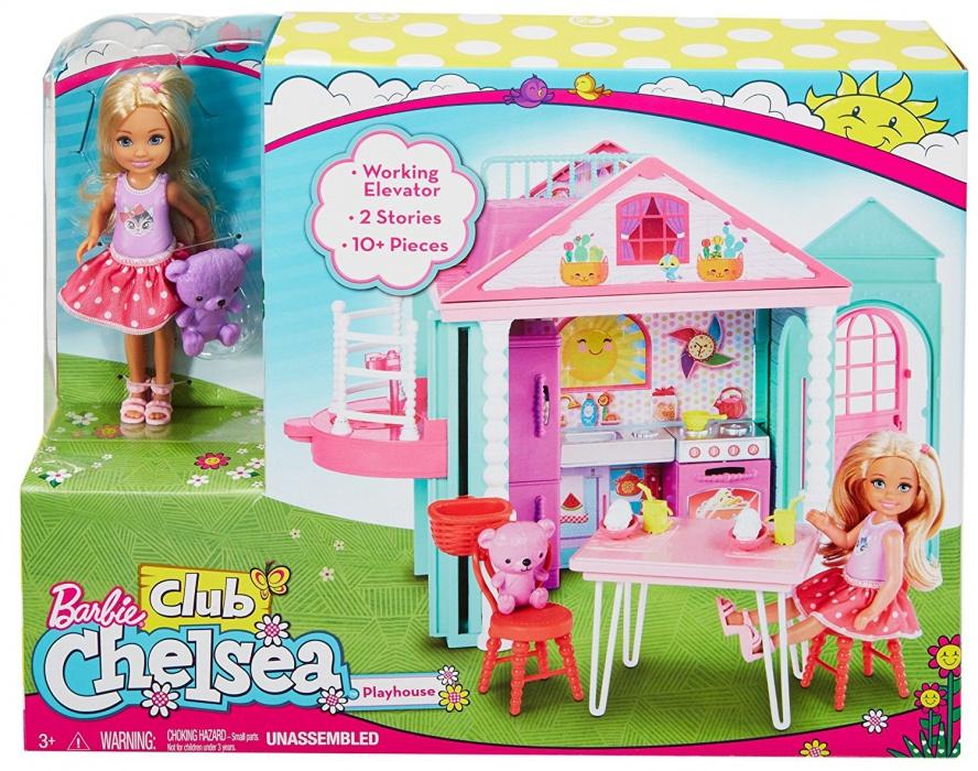 Mattel Panenka Barbie Chelsea a Domeček DWJ50