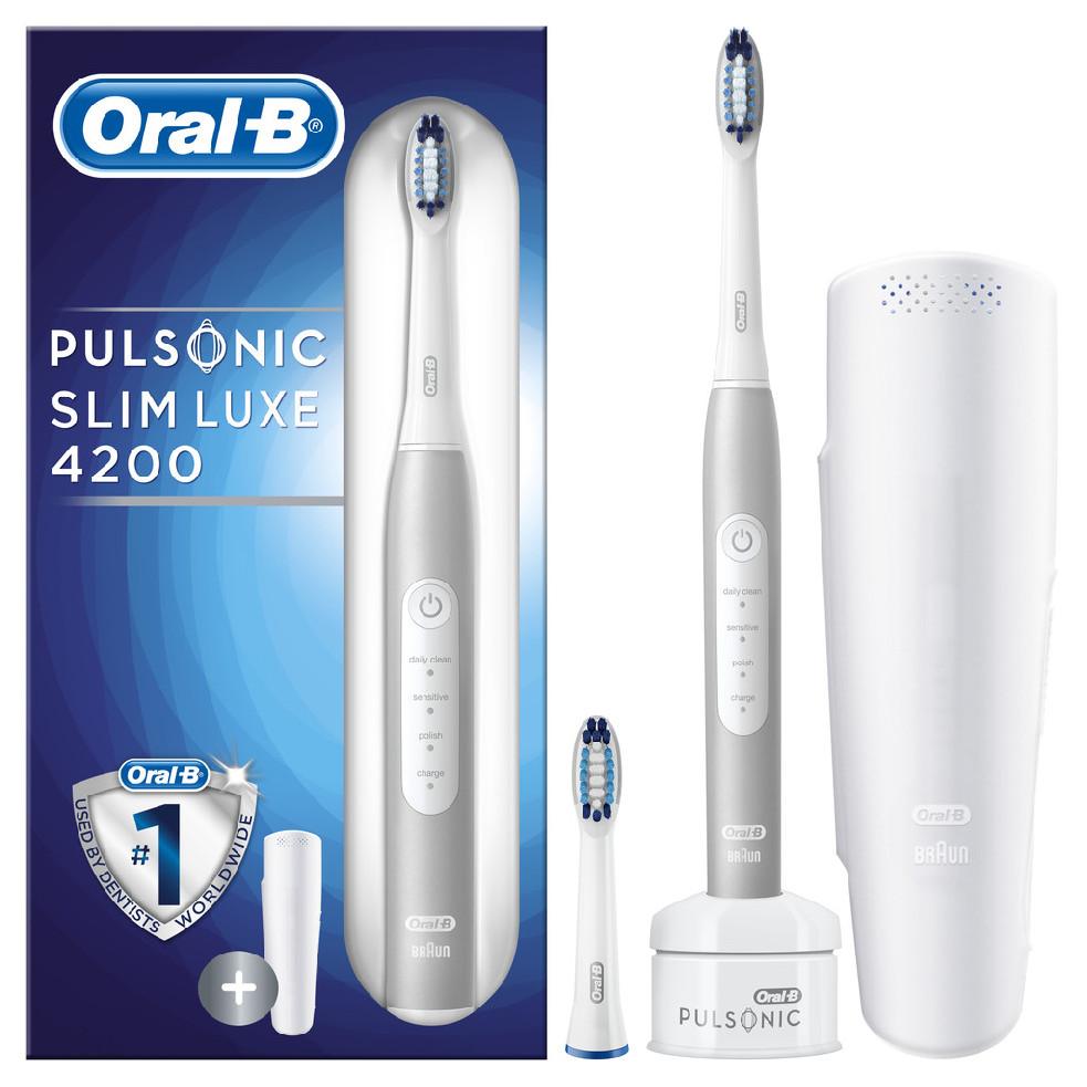 Braun Oral B Pulsonic Slim Luxe 4200 Platinum sonický zubní kartáček S411.523.3X