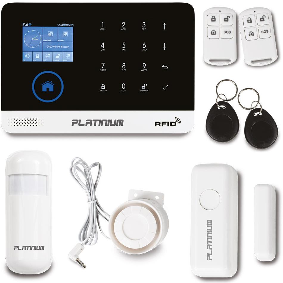 Platinum Platinium Bezdrátový domovní GSM alarm s Wi-Fi PG-103